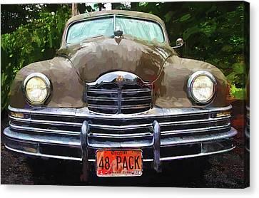 1948 Packard Super 8 Touring Sedan Canvas Print by Thom Zehrfeld