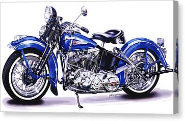1948 Panhead Canvas Print by Jack Knight
