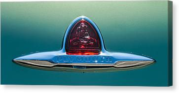 1948 Plymouth Coupe Emblem -0190c Canvas Print by Jill Reger