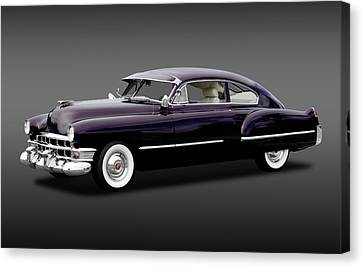 Canvas Print featuring the photograph 1949 Cadillac Two Door Sedan  -  1949caddy2doorsedanfa172173 by Frank J Benz