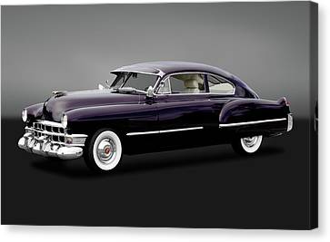 Canvas Print featuring the photograph 1949 Cadillac Two Door Sedan  -  1949caddy2drsedangry172173 by Frank J Benz