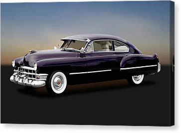 Canvas Print featuring the photograph 1949 Cadillac Two Door Sedan  -  1949cadillacsedan172173 by Frank J Benz
