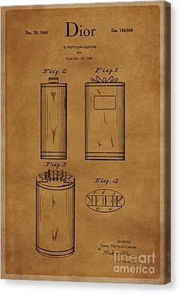1949 Dior Perfume Box Package Design 1 Canvas Print