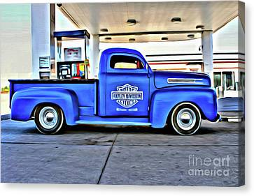 1949 Mercury Truck Canvas Print by Anthony Djordjevic