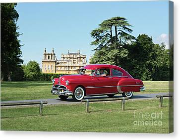 Canvas Print featuring the photograph 1949 Pontiac At Blenheim Palace by Tim Gainey