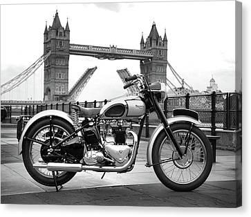 1949 Triumph T100 Canvas Print by Mark Rogan