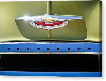 1950 Chevrolet Fleetline Grille Emblem -1431c Canvas Print