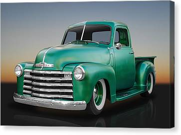 1950 Chevy Pickup Truck Canvas Print