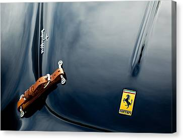 Emblem Canvas Print - 1950 Ferrari Hood Emblem by Jill Reger