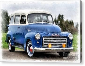 1950 Gmc Carryall Suburban 100 Canvas Print