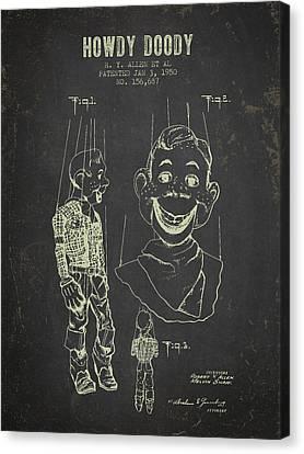 1950 Howdy Doody - Dark Grunge Canvas Print
