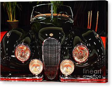 1950 Jaguar Xk120 Alloy Roadster . 7d9179 Canvas Print by Wingsdomain Art and Photography