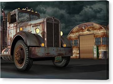 1950 Kenworth Canvas Print by Stuart Swartz