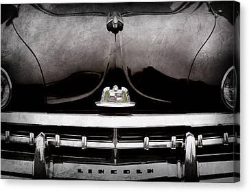 1950 Lincoln Cosmopolitan Henney Limousine Grille Emblem - Hood Ornament -0464ac Canvas Print