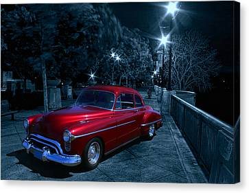 1950 Olds Ninety-eight Canvas Print by Michael Cleere