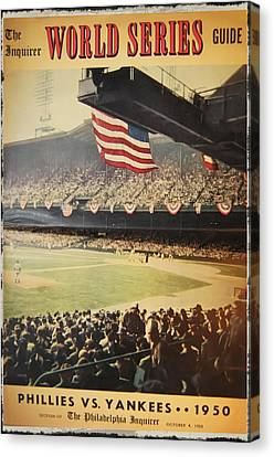 1950 Phillies Vs Yankees World Series Guide Canvas Print by Bill Cannon