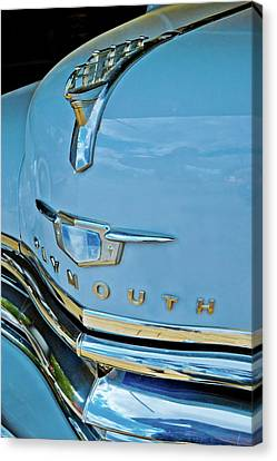 Canvas Print featuring the photograph 1950 Plymouth Coupe by Linda Unger