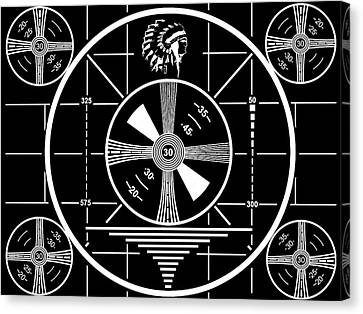 1950 Television Test Pattern Canvas Print by Dan Sproul