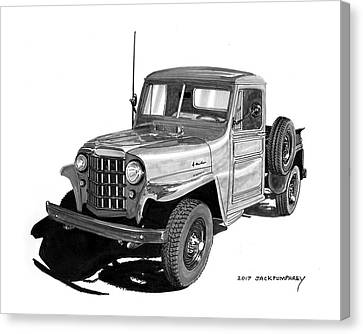 1950 Willys Pick Up Truck Canvas Print