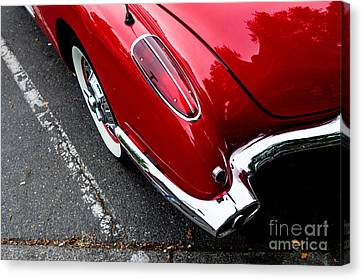 Canvas Print featuring the photograph 1959 Corvette by M G Whittingham