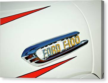 1950's Ford F-100 Fordomatic Pickup Truck Emblem Canvas Print by Jill Reger