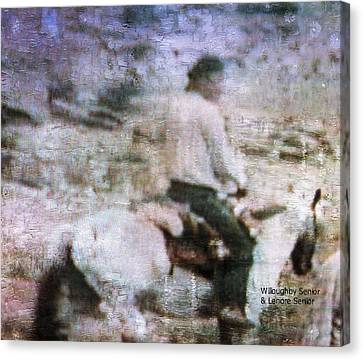 Native American Spirit Portrait Canvas Print - 1950's - Navajo At One With Horse by Lenore Senior and Willoughby Senior