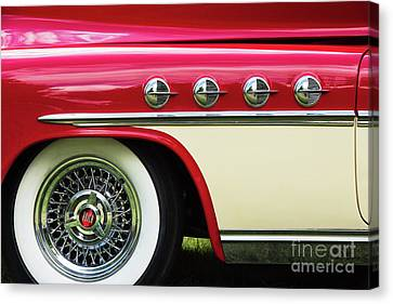 Canvas Print featuring the photograph 1951 Buick Roadmaster Fender by Tim Gainey