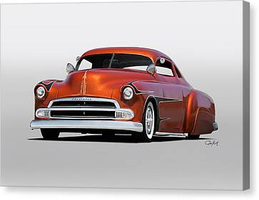 1951 Chevrolet Custom Coupe Canvas Print by Dave Koontz
