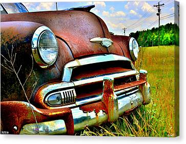 1951 Chevrolet Power Glide Canvas Print by Lisa Wooten