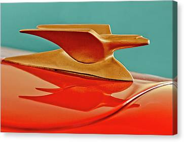1951 Crosley Hot Shot Hood Ornament 2 Canvas Print by Jill Reger