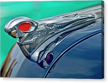 1951 Dodge Pilot House Pickup Hood Ornament Canvas Print by Jill Reger