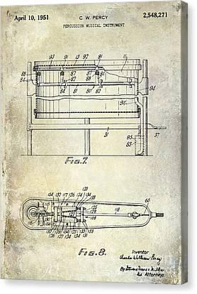 1951 Drum Patent  Canvas Print by Jon Neidert