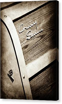 Gmc Canvas Print - 1951 Ford Country Squire Woody Wagon Side Emblem -3369s by Jill Reger