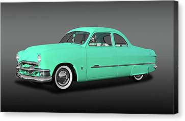 1951 Ford Custom Business Coupe  -  1951fdcpefa9846 Canvas Print by Frank J Benz