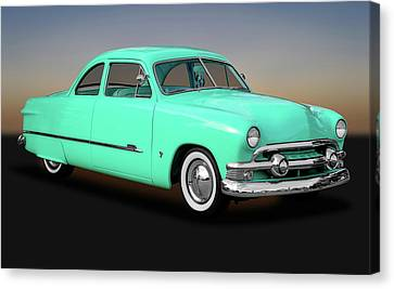 1951 Ford Custom Business Coupe   -   1951fordcustomshoebox170652 Canvas Print by Frank J Benz