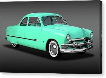 1951 Ford Custom Business Coupe   -   1951shoeboxfordcustomfa170652 Canvas Print by Frank J Benz