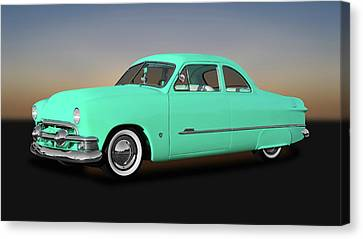 1951 Ford Custom Business Coupe  -  51fdbuscpe9846 Canvas Print by Frank J Benz