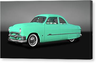 1951 Ford Custom Business Coupe  -  51fordcpegry9846 Canvas Print by Frank J Benz