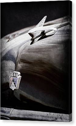 1951 Ford Custom Tudor Sedan Hood Ornament - Emblem -0312ac Canvas Print by Jill Reger