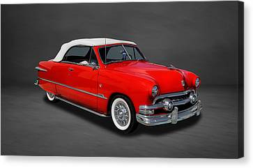 1951 Ford Custom V8 Convertible  -  3co Canvas Print by Frank J Benz