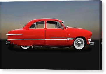1951 Ford Tudor Sedan  -  1951fdtudorsed9445 Canvas Print by Frank J Benz