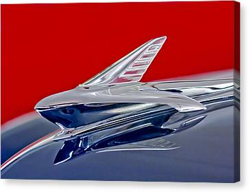 1951 Ford Woodie Hood Ornament Canvas Print by Jill Reger