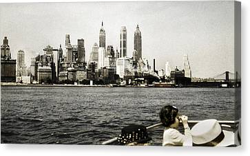 Historical Canvas Print - 1951 Lower Manhattan Ny Vintage 2 by Marilyn Hunt