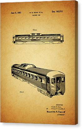 1951 Railway Car Patent Canvas Print