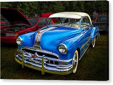1952 Blue Pontiac Catalina Chiefton Classic Car Canvas Print