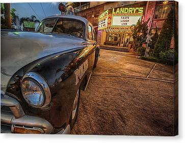 Canvas Print featuring the tapestry - textile 1952 Chevy  by Kathy Adams Clark