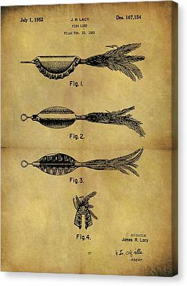 1952 Fish Lure Patent Canvas Print by Dan Sproul