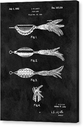 1952 Fishing Lure Patent Canvas Print by Dan Sproul