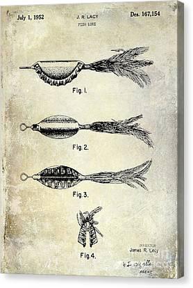 Trout Canvas Print - 1952 Fishing Lure Patent  by Jon Neidert