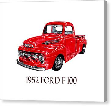 Big Red 1952 Ford F-100 Pick Up Canvas Print